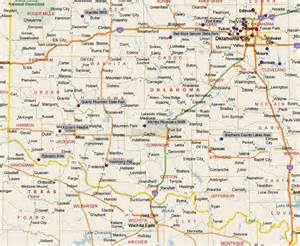 oklahoma map showing cities a guide to birding in oklahoma locators maps for state