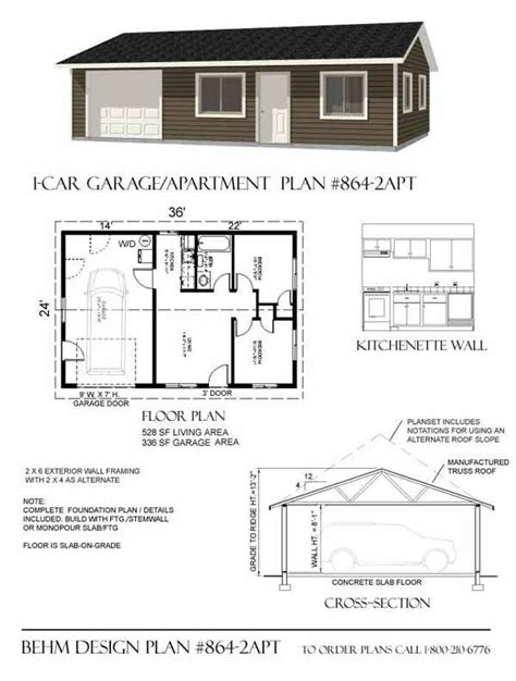 garage apt floor plans garage with apartment plan 864 2apt 36 x 24 by behm