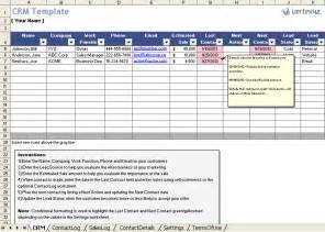 Project Follow Up Template Excel by Free Excel Crm Template For Small Business