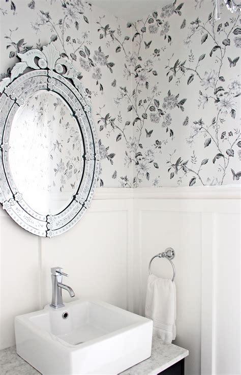 black and white bathroom wallpaper uk am dolce vita powder room makeover