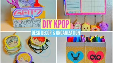 kpop theme ideas diy kpop desk decor organization youtube