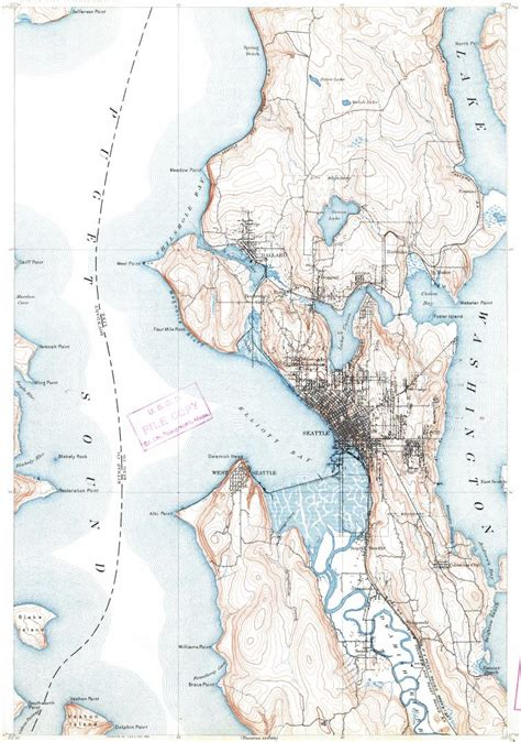 seattle map topo topographic map in area of seattle
