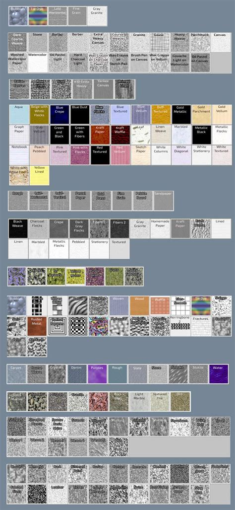 pattern library for photoshop photoshop patterns chart