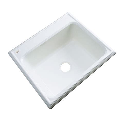 white drop in kitchen sink thermocast wentworth drop in acrylic 25 in single basin