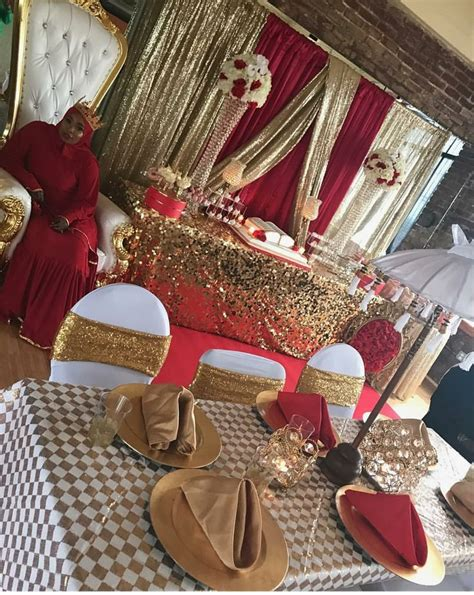 red gold  white royal party red birthday party