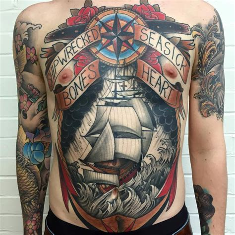 uk tattoo traditional on back by best uk artist