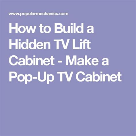 How To Build A Hidden Tv Lift Cabinet Cabinets Tv How To Build A Tv Lift Cabinet