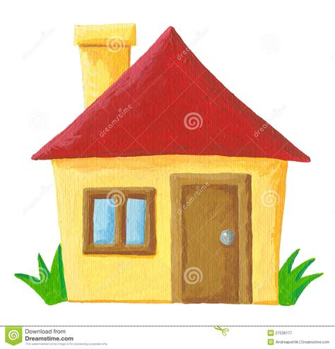 simple home building 7493 simple house stock illustration image of estate front