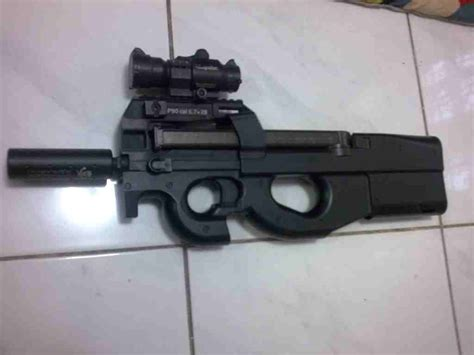 Jual Airsoft Gun Lpeg P90 Jual Airsoft Second Ks P90 Tr Dot Not Incl Pictures