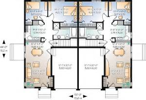 Duplex Townhouse Plans by Duplex Plan Chp 44105 At Coolhouseplans Com Loose