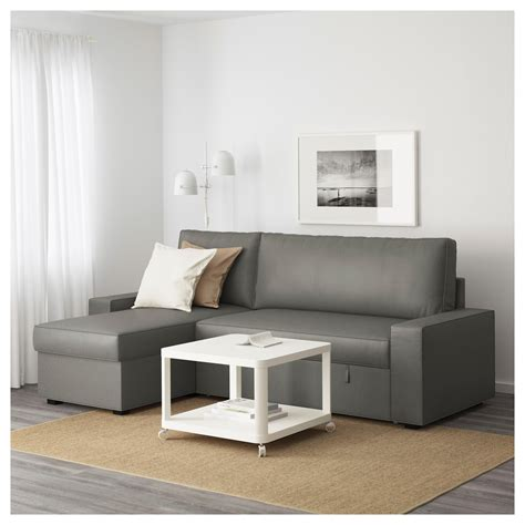 grey sleeper sofa with chaise vilasund sofa bed with chaise longue borred grey green ikea