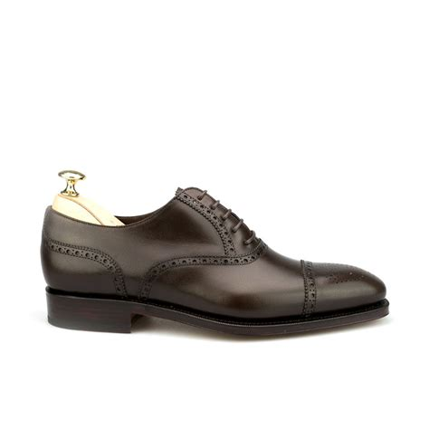 shoes oxford semi brogue oxford shoes carmina
