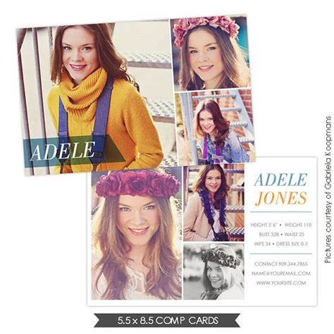 Model Comp Card Psd Templates For Photoshop by 17 Best Images About Comp Cards On Nyc