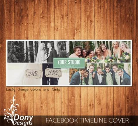 wedding facebook timeline cover template photo collage