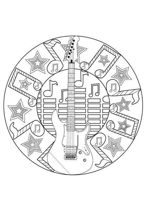 music mandala coloring pages this would be neat to turn into a stencil or something and