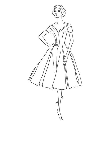 Top Model Coloring Pages To Download And Print For Free Fashion Model Coloring Pages