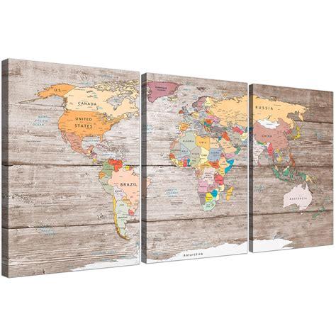 large decorative map  world atlas canvas wall art print