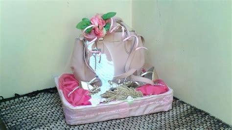 Minat Pm hantaran tas dan sepatu tema pink minat pm pin bb