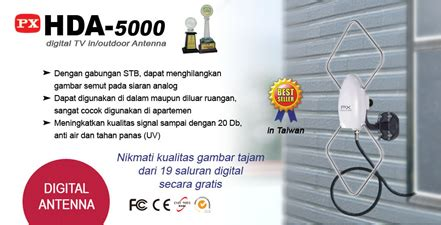 Antena Tv 5000 jual px digital tv in outdoor antenna hda 5000 murah
