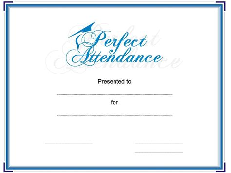 Award Your Student Or Employee For Perfect Attendance This Attendance Award Certificate Is Attendance Award Template