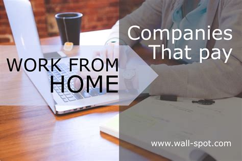 companies that pay you to work from home wall spot
