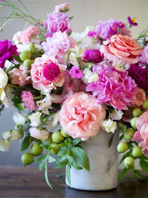 spring florals garden series peony and walnut centerpiece peony