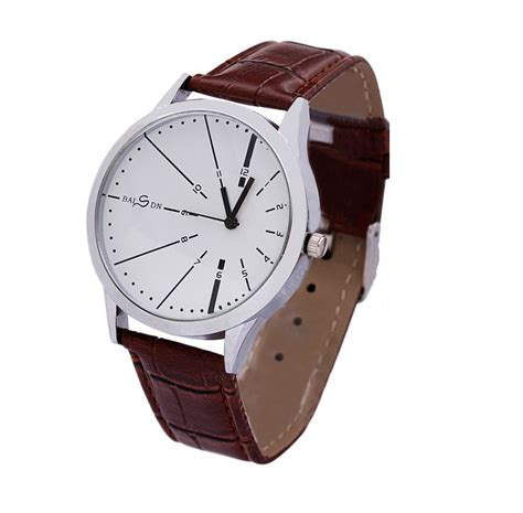 aliexpress mens watches 2015 new fashion mens watches brown leather strap analog