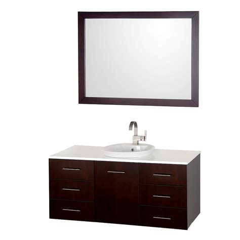 bathroom canity 48 quot arrano 48 espresso bathroom vanity bathroom vanities bath kitchen and beyond