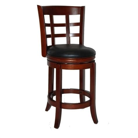 Bar Height Bar Stools Swivel boraam kyoto 24 lt cherry counter height swivel bar