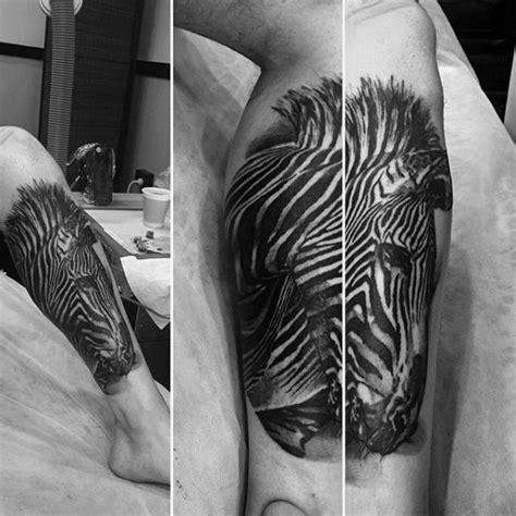 zebra pattern tattoo 40 zebra tattoos for men safari striped design ideas