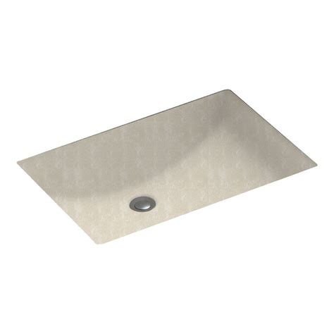 rectangular undermount bathroom sinks shop swanstone cloud bone solid surface undermount