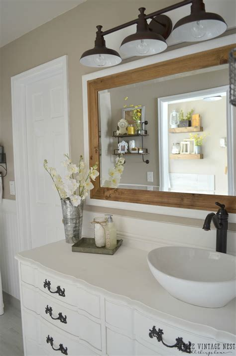 farmhouse master bathroom reveal vintage farmhouse