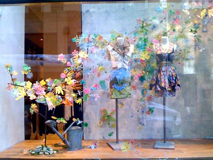 store display themes anthropologie windows combine recycled plastic social