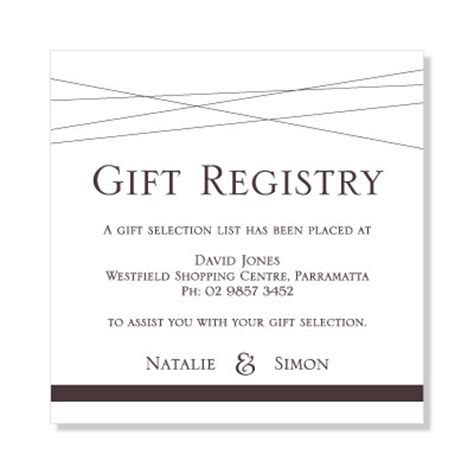 Wedding Gift Registry Ideas List by Wedding Invitation Gift List Wording Wedding Dress Ideas