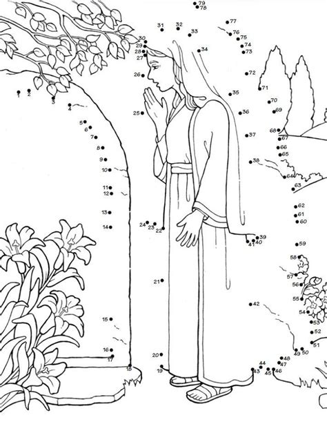 lds coloring pages last supper connect the dot resurrection christ easter