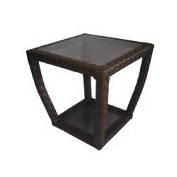 Patio End Table Wicker Allen Roth Lawley Patio Rocking Chair Side Table From Lowes Seating Outdoor Furniture
