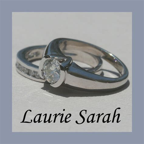 Channel Set and Half Bezel Set Diamond Engagement Ring
