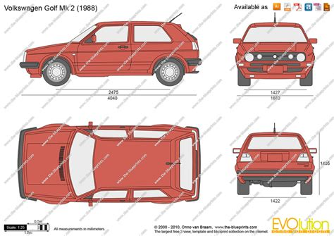 volkswagen drawing the blueprints com vector drawing volkswagen golf ii