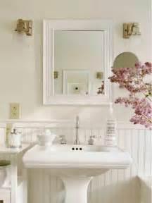 And rectangular mirror filled on shabby chic bathroom design ideas