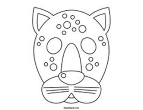 printable jaguar mask 1000 images about coloring printable masks on pinterest