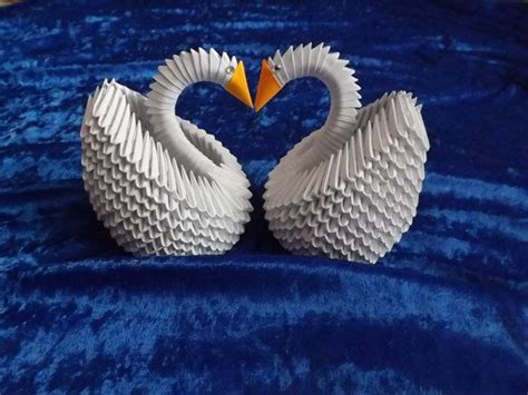 3d Origami Swan For Sale - 3d origami 2 swans swan for wedding table
