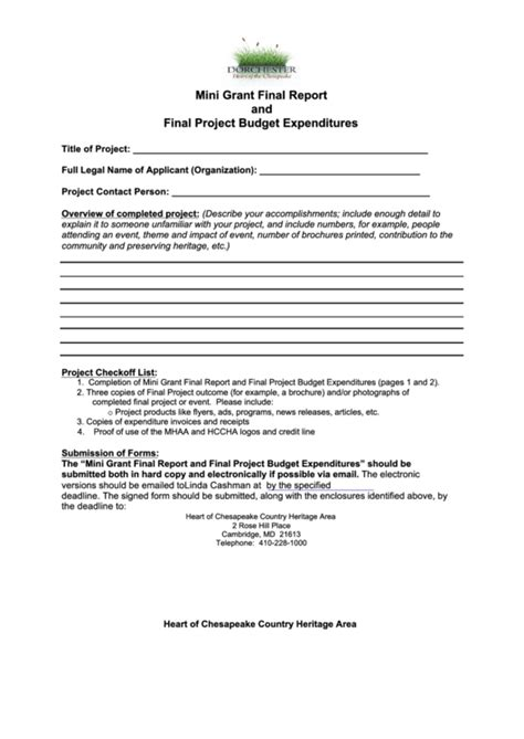 top grant report templates free to in pdf format