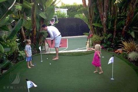 artificial backyard putting green putting green fun for the family without leaving home