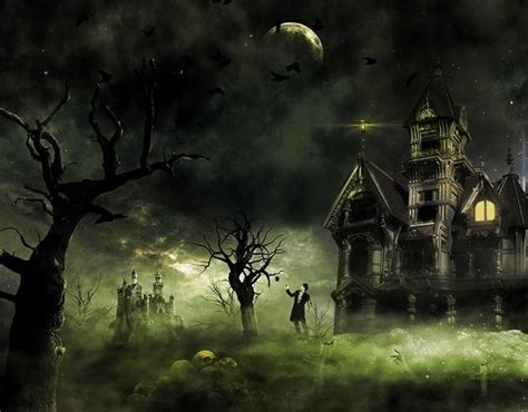 set the scene for a haunted mansion halloween party 20 creative photo manipulation tutorials 2016