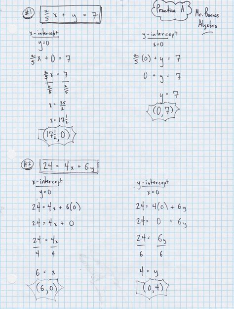Yesterday S Work Unit 3 Linear Functions Have A