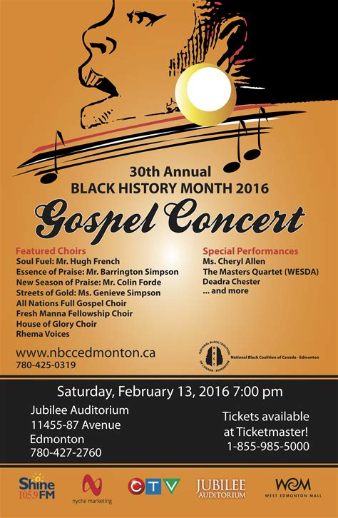 black history month gospel concert nbcc edmonton