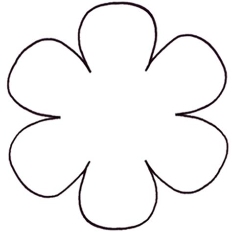 6 petal flower template flower leaf flower templates flower diagram templates