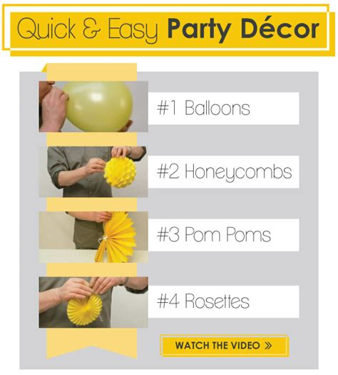 easy decorations decorating ideas easy d 233 cor kits big dot