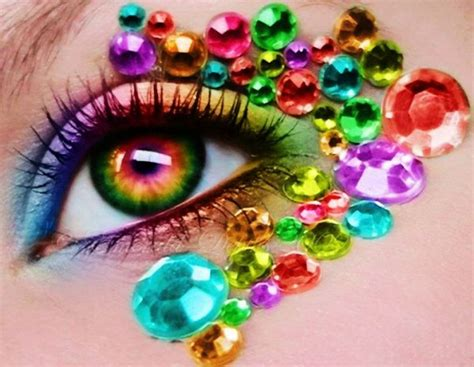 colorful eye colorful diamonds eye make up f13321 you wrong time