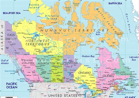 map pf canada map of canada city geography